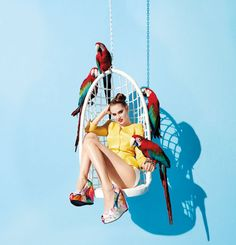 Anais Pouliot by Terry Richardson for Aldo, Spring/Summer 2012 (look at the shoes) // Inspiration by Eric #Bompard