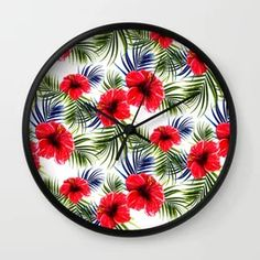Tropical Flowers And Floral Throw Pillow by allthingstore | Society6