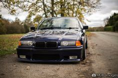 Montreal blue BMW e36 coupe on cult classic ACT/Ronal/Gotti SX wheels