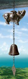 Flying Pig Metal Bell, $17.95