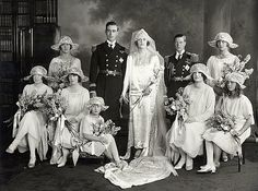 The marriage of Lord Louis Mountbatten and the Hon Edwina Ashley