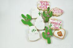 100 Vintage Desert Wedding cake - Arizona- Cactus Sugar Cookies - Country Chic - Rustic - Customizable - Personalized - Wedding favors