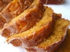 PUMPKIN BREAD * moist and delicious * optional glaze ** make 1 large or 2 mini loaves *