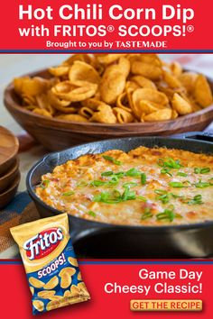 Corn Dip With Fritos, Hot Corn Dip, Frito Corn Dip, Tailgate Food, Tailgating, Bolo Diet, Recipe Mixes, Appetizer Recipes, Appetizers