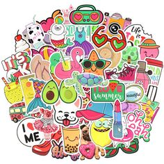 Waterproof Cute Vinyl Stickers Pack for Water Bottle Laptop for Teen Girls Beach Style) QTL Luggage Stickers, School Carnival, Sticker Bomb, Adventure Style, Waterproof Stickers, Craft Party, Cool Furniture, Sewing Crafts, Skateboard