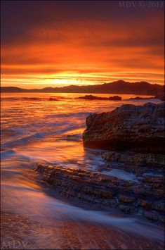 ~~Main Event ~ epic sunset!, Shell Beach, Central Coast of California by ~twelvemotion~~