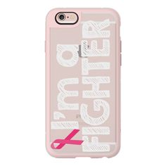 iPhone 6 Plus/6/5/5s/5c Case - Im A Fighter Breast Cancer Awareness ($40) ❤ liked on Polyvore featuring accessories, tech accessories, iphone case, iphone cases, iphone hard case, apple iphone cases and iphone cover case
