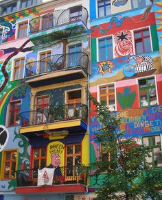 the fashionable #Friedrichshain area in #Berlin