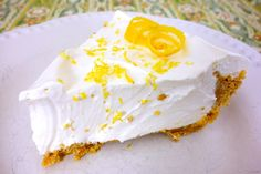 No-Bake Lemon Pie  adapted from Taste of Home  (Printable Recipe)      1 (14oz) can sweetened condensed milk (Eagle Brand)  1/2 cup lemon juice  1 (8oz) tub cool-whip  1 9-inch graham cracker crust    Whisk together milk and lemon juice. Carefully fold in cool-whip. Pour into prepared graham cracker crust. Refrigerate 4 hours, or until firm.