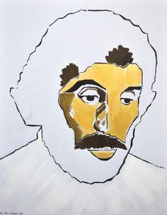 Debut Contemporary | Portrait of Sohrab Sepehri by Sassan Behnam Bakhtiar