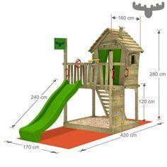 Spielturm DonkeyDome Double XXL, Kinderspielgerät