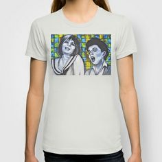 Streisand & Garland  T-shirt by Portraits on the Periphery   - $22.00