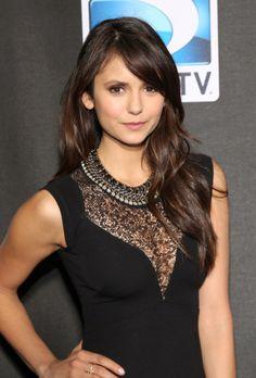 'Vampire Diaries' star Nina Dobrev wearing the Tempest Statement Necklace from Stella & Dot. www.stelladot.com/emarkland