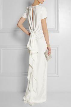 Lanvin   Ruffled satin-twill gown