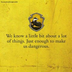 :)>>> I feel like Dean Winchester might be a Hufflepuff. He is ridiculously loyal to those he loves.