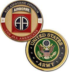 82nd Airborne Division Brass Challenge Coin - Meach's Military Memorabilia & More