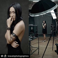Image by @kravetzphotographics ・・・ I posted this #bts a while ago and here it is again with final image side by side. This creative portrait session was for #Montreal photographer and artist @litchibunny with MU by @la_durand . Also check out previously posted images. #phaseone #behindthescenes #famousbtsmagazine #iso1200 #wesctott #studiolight #mediumformat #canvasbackdrop #profoto #mtlphotographer #mtl