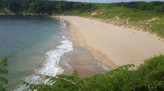 Empty beach in #Wales