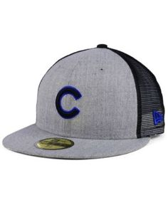 8d681710437 New Era Chicago Cubs New School Mesh 59FIFTY Fitted Cap   Reviews - Sports  Fan Shop By Lids - Men - Macy s