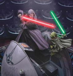 Darth Sidious vs. Master Yoda