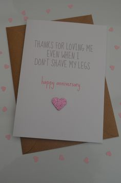 Humourous Engagement Card, Love, Funny  -  Thanks for loving me even when £1.99