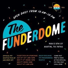 The fest is comin'. Make sure you're prepared. Buy your tickets now and pick them up in person at funderdome, opening this week. 🎉 funfunfunfest.com/funderdome #FFFfest