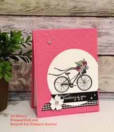 Jill's Card Creations: Life is a Beautiful Ride bicycle card fun Stampers Journey