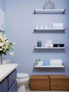 Floating Shelves In Bathroom 1