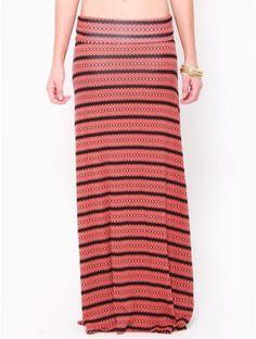 #Chevron #Striped Maxi Skirt
