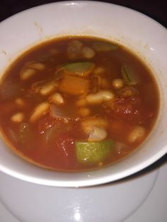 Minestrone. Lovely on a cold winter day.