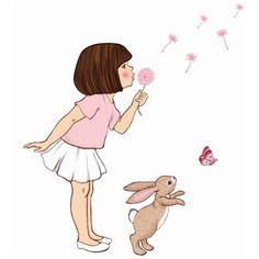 "Sticker Mural ""Dandelion"" Belle & Boo chez Rose & Milk"