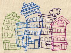 Scribble City | Urban Threads: Unique and Awesome Embroidery Designs
