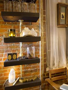 This Is a Pipe in Urban Spaces: Creative Couple's Shotgun-Style NYC Apartment from HGTV