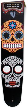 3.5 leather custom guitar strap  Pick your print! $69