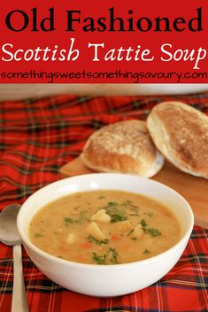 Scottish Tattie Soup ~ simple, nourishing, filling and cheap to make. Scottish Dishes, Scottish Recipes, British Recipes, Vegetarian Recipes, New Recipes, Cooking Recipes, Favorite Recipes, Cheap Recipes, Recipies