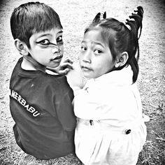 #Merbabu slopes kids #mountain #centraljava #Indonesia