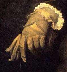 titian man with a glove, detail