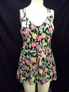 1970's Floral FullCut Ladies Kitschy Swimsuit by MyKitschyCloset, $20.99