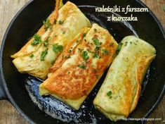 Stare Gary: Naleśniki z farszem z kurczaka My Favorite Food, Favorite Recipes, Crepes And Waffles, Pancakes, Good Food, Yummy Food, Polish Recipes, Food Design, Food Photo