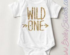 Wild One One-Piece Bodysuit Infant Creeper Baby by BrileyStudios