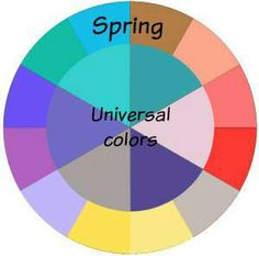 Spring and the Universal Colors  #universal colors #spring http://www.style-yourself-confident.com/universal-colors.html