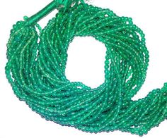 """Green Onyx Smooth Round Gemstone Beads 3MM to 3.5MM AAA 13"""" 100% Natural stone #Unbranded"""