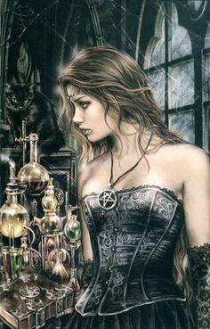 Lady Alchemist by Victoria Frances Gothic Fantasy Art, Fantasy Girl, Fantasy Artwork, Boris Vallejo, Fairytail, Steampunk Fashion, Gothic Fashion, France Art, Luis Royo