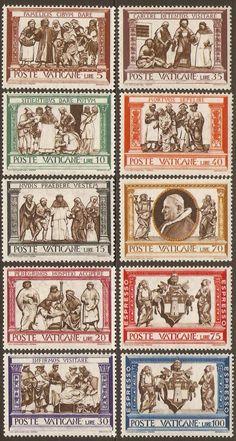 Kayatana Stamps : Vatican City 1960 Works of Mercy Set.
