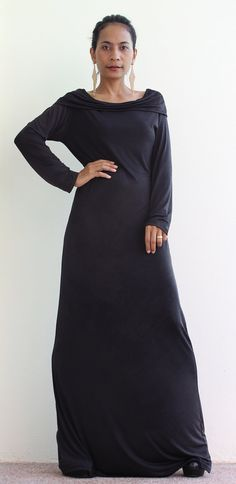 Hey, I found this really awesome Etsy listing at http://www.etsy.com/listing/122695627/black-long-sleeved-maxi-dress-elegant