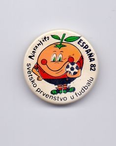 BADGE - NARANJITO - FIFA WORLD CUP SPAIN 82 ESPANA 82 - RARE EDITION  | eBay