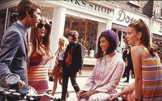 Hanging out in London's Carnaby street, 1966.