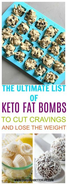 The Ultimate List of Keto Fat Bombs to Cut The Cravings and Lose The Weight #KetosisCookbook #DIETMEALPLANS