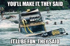 Probably, every owner of LR had a similar situation. It all started well: friends, road and good mood, and then the river, adrenaline and the underwater world. True story, yeah?  #LandRover #Car #autoparts #autorepair #fixingcar