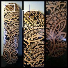 Polynesian tattoo photo sample 1 with turtle shells.
